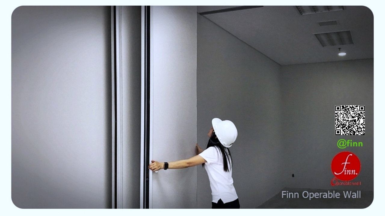 ผนังกั้นห้องที่สามารถเคลื่อนย้ายได้ finn ผนังกันเสียงเคลื่อนที่